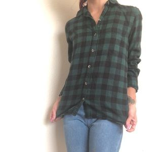 Perfectly Soft Flannel - Green Flannel XS